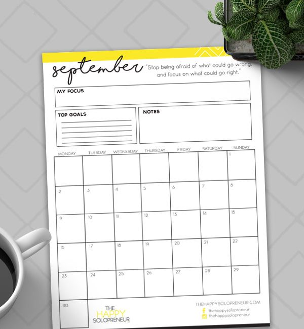 September 2018  Planner is here!